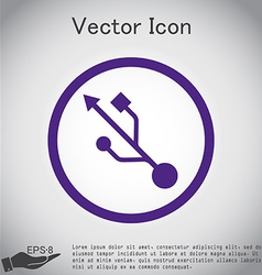 Usb symbol usb icon computer sign vector