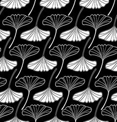 leaf gingko sketch doodle set 2 black vector image