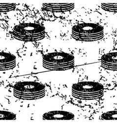 Cd stack pattern grunge monochrome vector