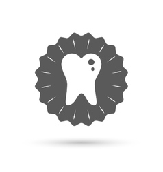 Caries tooth sign icon dental care symbol vector