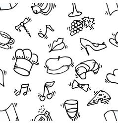 Paris symbols pattern vector