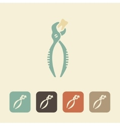 Forceps for removal of teeth icon vector