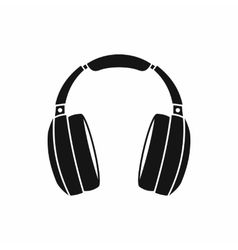 Headphones icon simple style vector
