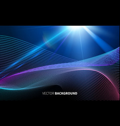 abstract futuristic technology with linear pattern vector image vector image