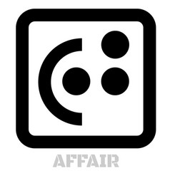 Affair conceptual graphic icon vector