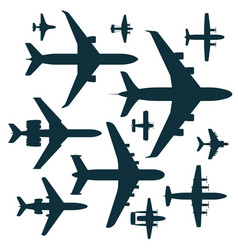 Airplane silhouette aircraft vector