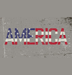america grunge word sign vector image
