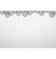 Balloons silhouette vector