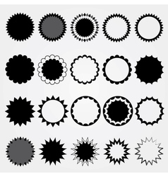 Black price tags collection Different styles vector image vector image