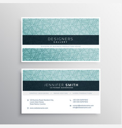Blue business card minimal template with abstract vector