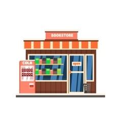 Bookshop front vector