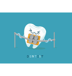 Braces tooth vector