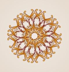 Brown circular element vector image