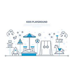 children s entertainment playground sandbox vector image vector image