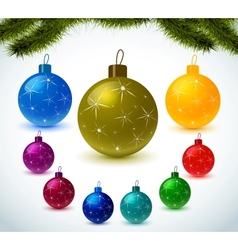 Christmas colorful balls vector image vector image