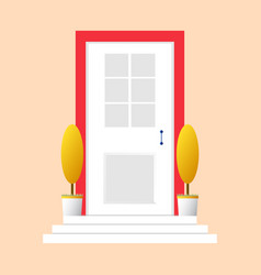 colorful door concept door flat icon design your vector image