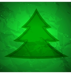 Creative Christmas tree with Texture vector image