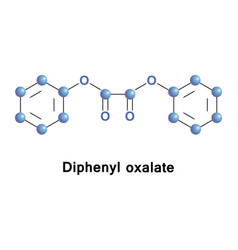 diphenyl oxalate ester vector image