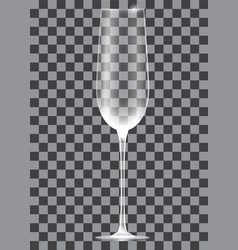Empty champagne glass on transparent background vector