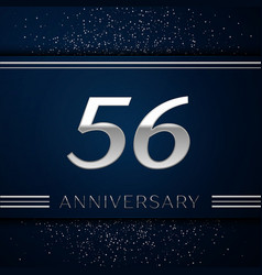 fifty six years anniversary celebration logotype vector image