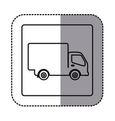figure emblem delivery car icon vector image