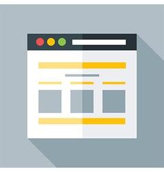 Flat stylized webpage vector