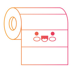 kawaii roll paper towel in degraded yellow to vector image vector image