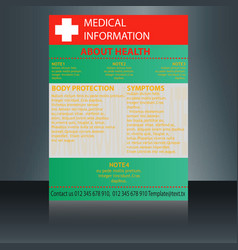 Medical brochure flyer design template a4 size - vector