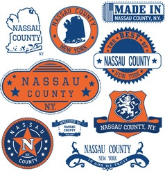 Nassau county new york vector