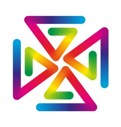 Rainbow pinwheel vector