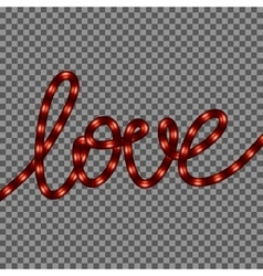 Red neon love sign eps 10 vector
