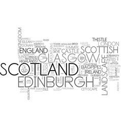 Scotland word cloud concept vector