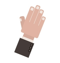 Side open hand with formal suit sleeve vector