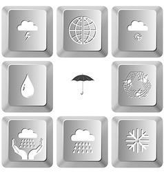 thunderstorm globe snowfall drop umbrella recycle vector image