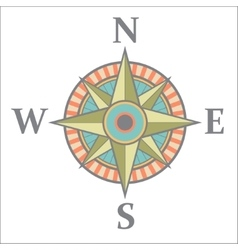 Wind rose with color vector