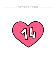 doodle icon Valentine heart vector image