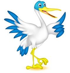 Cute duck cartoon vector
