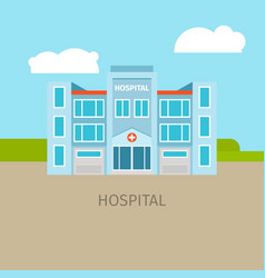 Colored medical hospital building vector