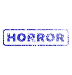 Horror rubber stamp vector