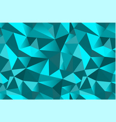 Abstract turquoise geometric triangular seamless vector