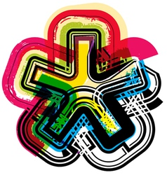 Colorful Grunge symbol vector image