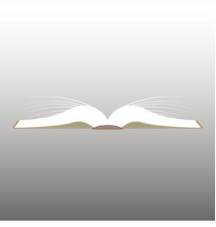 reading opened book vector image