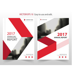 Red arrow abstract annual report brochure vector