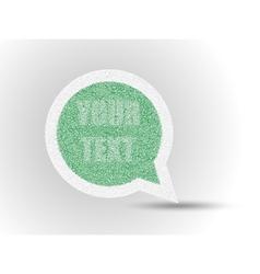 Sticker grass comics label etiquette vector