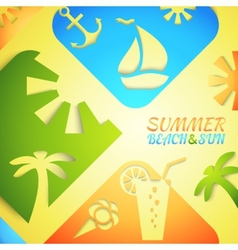 Abstract summer  bright beach vector