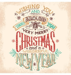 Christmas and new year hand lettering vector