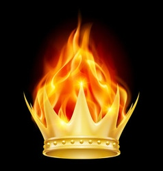 Burning crown vector