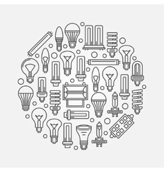 Light bulbs linear vector