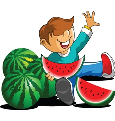 Watermelon fan vector image
