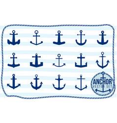 anchor set vector image